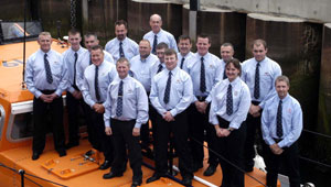 Some of the lifeboat crew